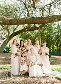 Long Pale Bridesmaids Dresses | photography by http://www.lexiafrank.com/