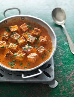 Fresh Indian Cheese in a Butter-tomato Sauce (Paneer Makhani) - The Happy Foodie