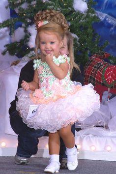 Pink White Glitz Pageant Dress