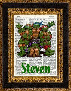 Custom Personalized Teenage Mutant Ninja Turtles by PenInkGallery, $8.99