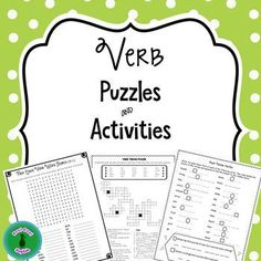 Bundle of activities and puzzles to practice present and past tense verbs. These are great activities to reinforce verb forms, and are especially useful for English language learners as they often have difficulty mastering  these two tenses. The following activities are included:* Crossword puzzle to practice present and past tense verb forms* Two word search puzzles to write and locate the past tense forms of verbs* Scrambled sentences that include various past tense verb forms and answer…