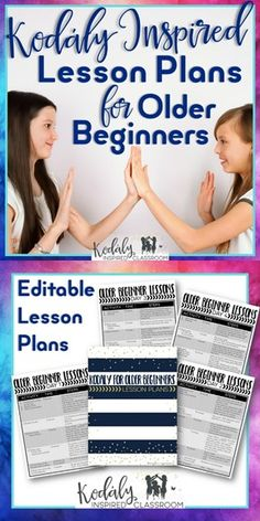 Kodaly Lesson Plans and PowerPoints for Older Beginners {Growing Bundle of 10 lesson plans, powerpoints, singing games, and directions} Are you looking for music lesson plans aimed at helping older beginners develop and master the basics such as steady beat, beginning rhythms, and solfege? Are you new to a school that does not have a strong tradition of music literacy? Lesson plans for upper elementary or middle school music.