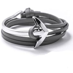 Leather Anchor Bracelet - [product type] - affordable menswear