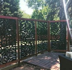 Matrix in. x 71 in. x ft. Jungle Recycled Plastic Charcoal Decorative Screen per - The Home Depot - Pergola Ideas Backyard Pergola, Pergola Shade, Backyard Landscaping, Pergola Kits, Pergola Ideas, Cheap Pergola, Outdoor Pergola, Outdoor Walls, Outdoor Living
