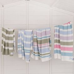 Cotton Multi-Striped Baby Blanket