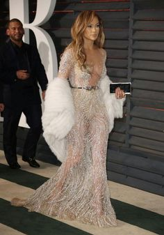 Jennifer Lopez's best sheer dresses ever: Zuhair Murad at the 2015 Vanity Fair Oscars after party