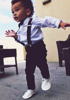"""Baby//Toddler//Young Boys Black Patterned Bow Ties w//Blk 25/"""" or 30/""""-36/"""" Suspenders"""