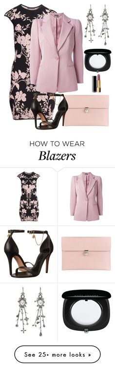 """""""Alexander McQueen"""" by naviaux on Polyvore featuring Alexander McQueen, Chanel, Marc Jacobs, women's clothing, women's fashion, women, female, woman, misses and juniors"""