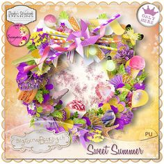 "kit collab ""Sweet Summer"" by Ilonka's Scrapbook Designs and Sarayane http://www.digiscrapbooking.ch/shop/index.php?main_page=product_info&cPath=22_26&products_id=15381"