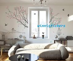 Vinyl+Wall+Decal+Nature+Design+Tree+Wall+Decals+Wall+stickers+Nursery+wall+decal+wall+art------sweet+home