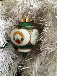 "An Irish Christmas Ornament that is unmistakably Irish. This 4"" porcelain Victorian ornament is decorated with a colorful Claddagh design and highlighted in green and gold."