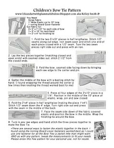 Bow Tie Pattern  Knitting And Sewing    Ties