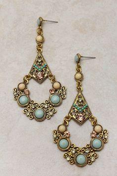 Victorian Mint Chandelier Earrings on Emma Stine Limited