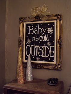 For an ornate frame, check out your local Goodwill/thrift store. If you're not fond of the color, just spray paint it! We'll have metallic (gold/silver) and festive colors (red/green)