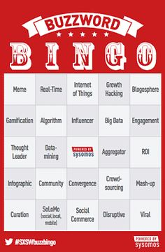 Quite like the design / fonts Buzzword Bingo, Big Data, Thoughts, Infographics, Promotion, Fonts, Game, Digital, Design