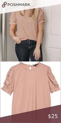 NWOT GIBSON Rebecca Clip Dot Puffy Sleeve in Mauve Never worn Gibson Tops Blouses