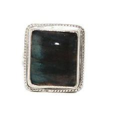 925 Sterling Silver Ring Labradorite Ring Tribal Ring Boho Ring Gypsy Ring