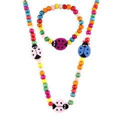 Little Girl Wooden Lady Bug Jewelry Set * Find out more about the great product at the image link.