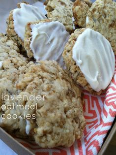 Lavendar Oatmeal Cookies. Yay! I can make these with my Lavendar plant!