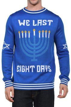 Men's We Last Eight Days Hanukkah Sweater                                                                                                                                                                                 More
