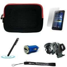 Red/Black Sleeve with Interior Fur Padding for Samsung Galaxy Tablet + Includes a Black Stylus Pen and a 360° Rotatable Windshield Mount + Includes a Blue USB Car Charger and a Durable Screen Protector by eBigValue. $26.00. Cover Sleeve with Interior Fur Padding for Samsung Galaxy Tablet Protection for your tablet. Comes with two way zipper opening, small accessory pocket inside, and cover edges to keep Galaxy secure. Light weight for hand mobility and scratch resistant...