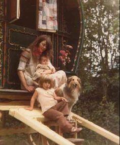 vashti bunyan, all hazy-like, with kids and dog