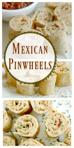 Mexican Tortilla Pinwheels – Everything About Appetizers Mexican Pinwheels Appetizers, Chicken Pinwheels, Tortilla Pinwheels, Mexican Food Appetizers, Tortilla Pinwheel Appetizers, Mexican Potluck, Cream Cheese Pinwheels, Mexican Snacks, Gastronomia