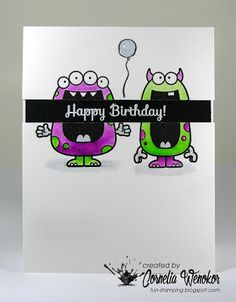 Stempel Spass: Happy Birthday with YNS