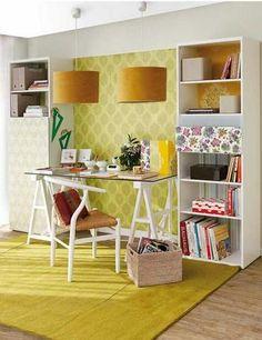 bookshelf   desk   bookshelf