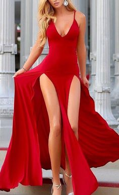 Lovely double slit maxi dress