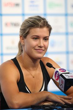 Eugenie Bouchard Photos: China Open: Day 3. Eugenie Bouchard of Canada speaks to media during a press conference on day three of the China Open at the China National Tennis Center on September 29, 2014 in Beijing, China.