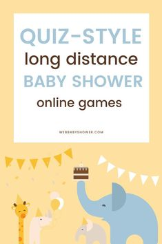 Online Baby Shower Games by Web Baby Shower! Want to celebrate your pregnancy with loved ones who live far away with virtual baby shower games? These quiz-style long distance baby shower online games Baby Shower Virtual, Otoño Baby Shower, Baby Shower Games, Baby Games, Printable Bridal Shower Games, Baby Shower Invitations, Baby Toys, Baby Online, Babyshower