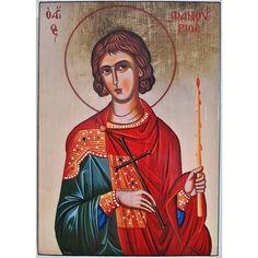 St Phanourios, by Monk Vasilios Simigdalis: Byzantine Art, Orthodox Christianity, Art Icon, Orthodox Icons, Roman Catholic, Saints, Artist, Artwork, Handmade Wooden