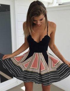 Women's Boho Print Pleated Summer Dress