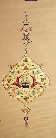 ༺❀༻Tezhip༺❀༻ Motif Oriental, Oriental Pattern, Islamic Paintings, Arabic Pattern, Islamic Patterns, Muse Art, Turkish Art, Principles Of Design, Islamic Art Calligraphy