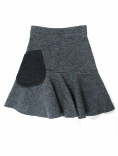 Carven Womens Gray Jupe Boiled Wool A Line Flared Skirt 36 Carven,http://www.amazon.com/dp/B0083M5S40/ref=cm_sw_r_pi_dp_.dHLsb1XBETKEV81