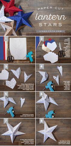 Paper Cut Star Lantern
