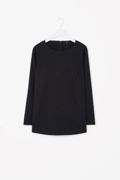 Pleated back cotton top