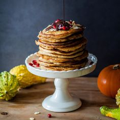 Pumpkins are not just for soups! We love these spiced gluten-free pumpkin pancakes for breakfast. If you would like to try it too the recipe is now on @thechalkboardmag (link in their profile). by lumadeline