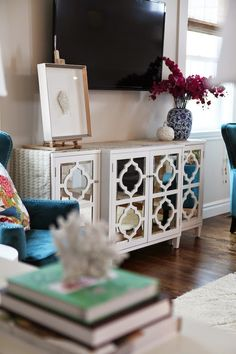 Recreate this credenza with Overlays Jasmine single panels