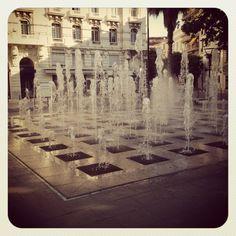 Fountains of Antibes, France...you get to too used to the beauty of these when you walk past them every day but they are so special