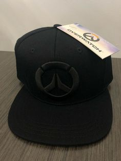 5bfad6f6020f4 Overwatch Game Black Fitted Hat Embroidered  fashion  clothing  shoes   accessories  mensaccessories