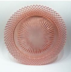 VINTAGE PINK DEPRESSION GLASS MISS AMERICA DINNER PLATE 10 1/4 INCHES