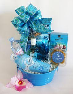 Aloha Blue Hawaiian Gift Tub