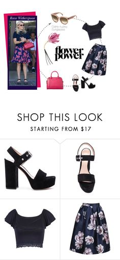 """""""Platform sandals by Reese Witherspoon"""" by smartbuyglasses ❤ liked on Polyvore featuring Gianvito Rossi, WithChic, Kate Spade, Marni, celine, CelebrityStyle and reesewiterspoon"""
