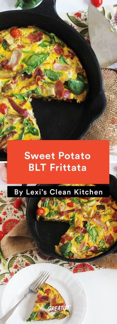 5. Sweet Potato BLT Frittata #healthy #breakfast #recipes http://greatist.com/eat/clean-breakfast-recipes-that-taste-delicious