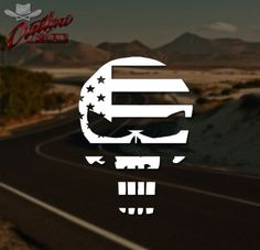 American-Flag-Punisher-SEAL-Patriotic-Chris-Kyle-Decal-Sticker-Pick-Your-Color - Buy it now for $2.49 on eBay!