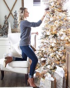 Finishing up the final touches on the tree Decorating the Christmas tree was such a magical and special event growing up Not much has changed I still love it I have some ornaments that bring back such sweet memories and it always brings a smile to my face as I unwrap them each year So much to be thankful for christmastree christmasdecor whitedecorweekends mywhiteweekend whitechristmas whitehome whitedecor farmhousedecor farmhousechristmas farmhousechristmas stylemepretty calmsimplesundays…