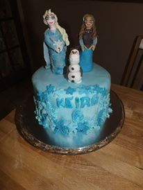 Disney frosen anna and elsa, olaf cake From Auntie Lisa's Cake & Craft Find us on facebook.