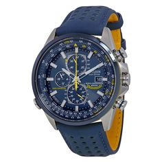 Citizen Eco Drive Blue Angels World Chronograph Leather Mens Watch AT8020-03L #Citizen #LuxuryDressStyles